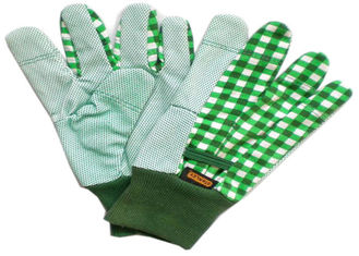 Gardening Working Cotton Drill Gloves Beautiful Patterns With Knit Wrist
